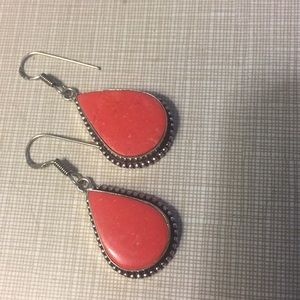 Beautiful Italian Coral Earrings